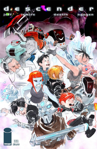 Descender #32 (L'il Robot Nguyen Cover)