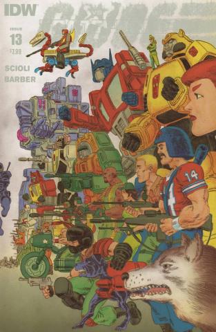 Transformers vs. G.I. Joe #13 (Subscription Cover)