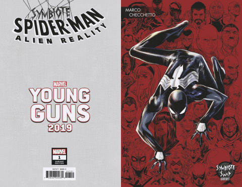 Symbiote Spider-Man: Alien Reality #1 (Checchetto Young Guns Cover)