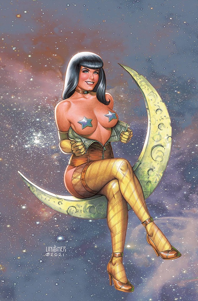 Bettie Page and The Curse of the Banshee #4 (Linsner Virgin Cover)