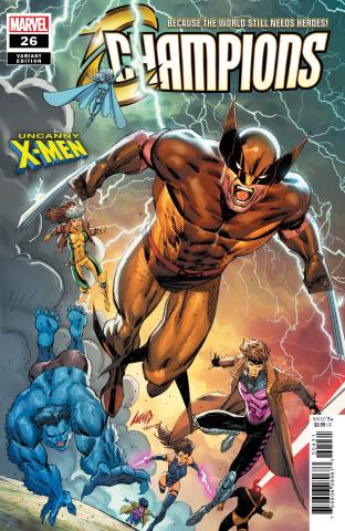 Champions #26 (Liefeld Uncanny X-Men Cover)