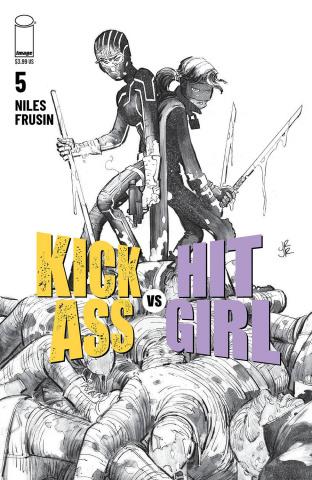 Kick-Ass vs. Hit-Girl #5 (B&W Romita Jr Cover)