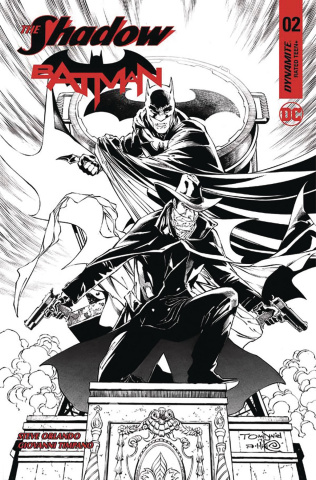 The Shadow / Batman #2 (50 Copy Daniel B&W Cover)