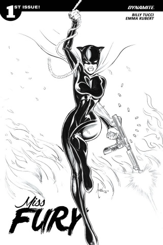 Miss Fury #1 (50 Copy Tucci B&W Cover)