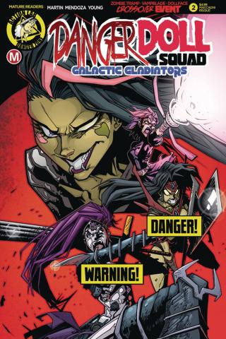 Danger Doll Squad: Galactic Gladiators #2 (Maccagni Risque Cover)