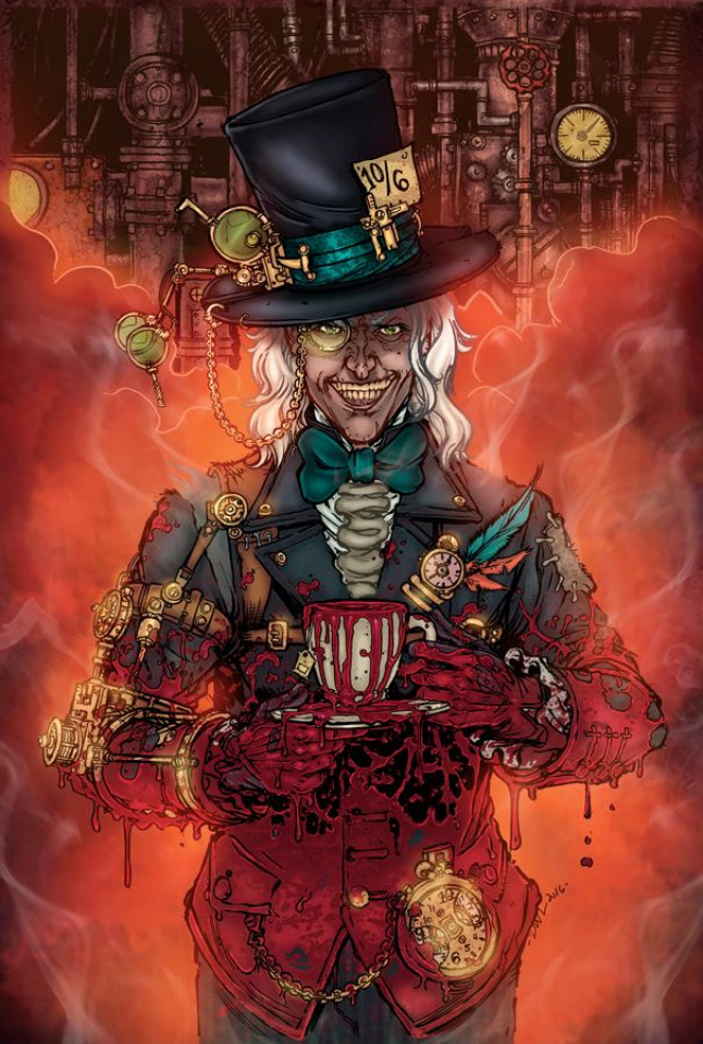 Grimm Fairy Tales: Steampunk Alice in Wonderland (Leister Cover)