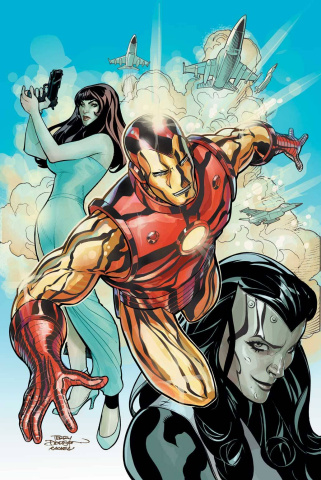 Iron Man #8 (Many Armors Cover)