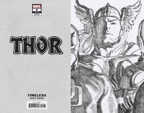 Thor #8 (Alex Ross Thor Timeless Virgin Sketch Cover)