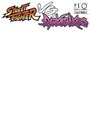 Street Fighter vs. Darkstalkers #1 (Blank Sketch Cover)