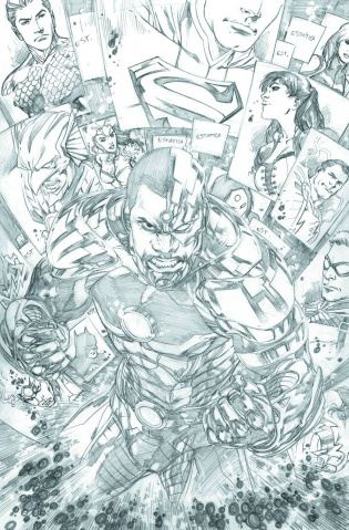 Justice League #18 (Black & White Variant)