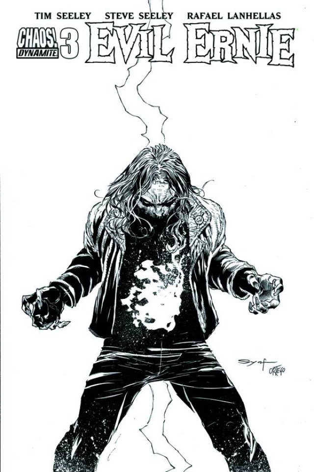 Evil Ernie #4 (15 Copy Syaf B&W Cover)
