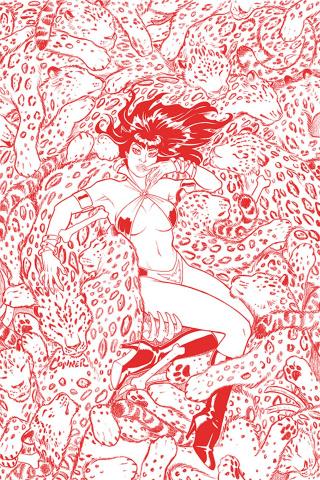 Vampirella #7 (Conner Fiery Red Line Art Ultra Premium Cover)