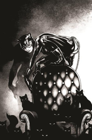 Batman: Black & White #2 (Kamome Shirahama Catwoman Cover)
