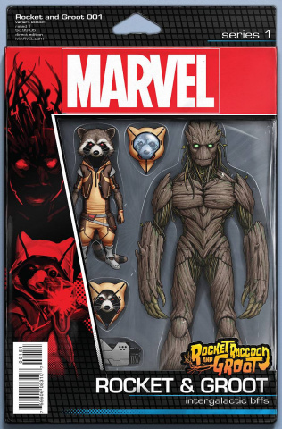 Rocket Raccoon and Groot #1 (Christopher Action Figure Cover)