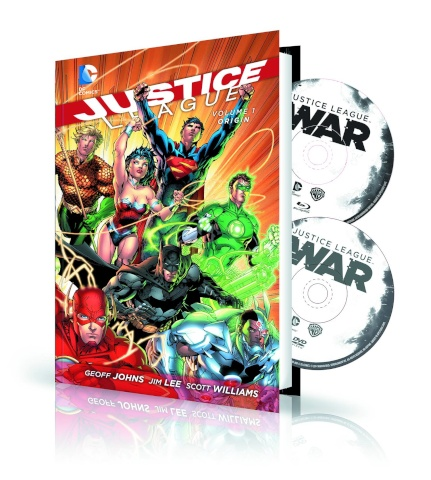 Justice League Vol. 1: Origin Book & DVD/BluRay Set