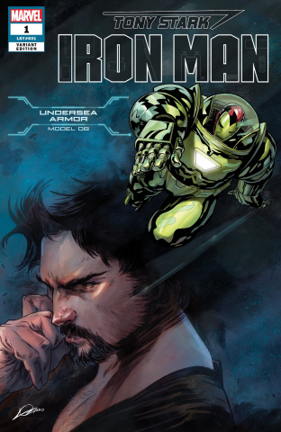 Tony Stark: Iron Man #1 (Undersea Armor Cover)
