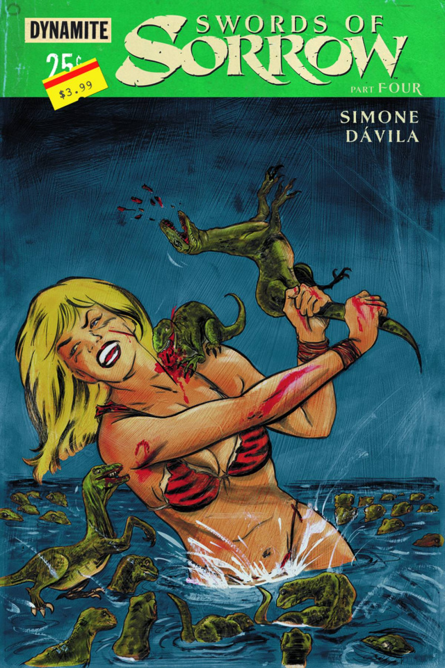 Swords of Sorrow #4 (Hack Subscription Cover)