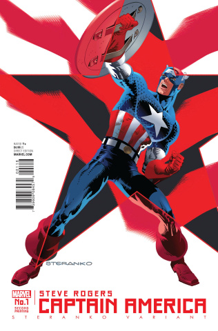 Captain America: Steve Rogers #1 (Steranko 2nd Printing)