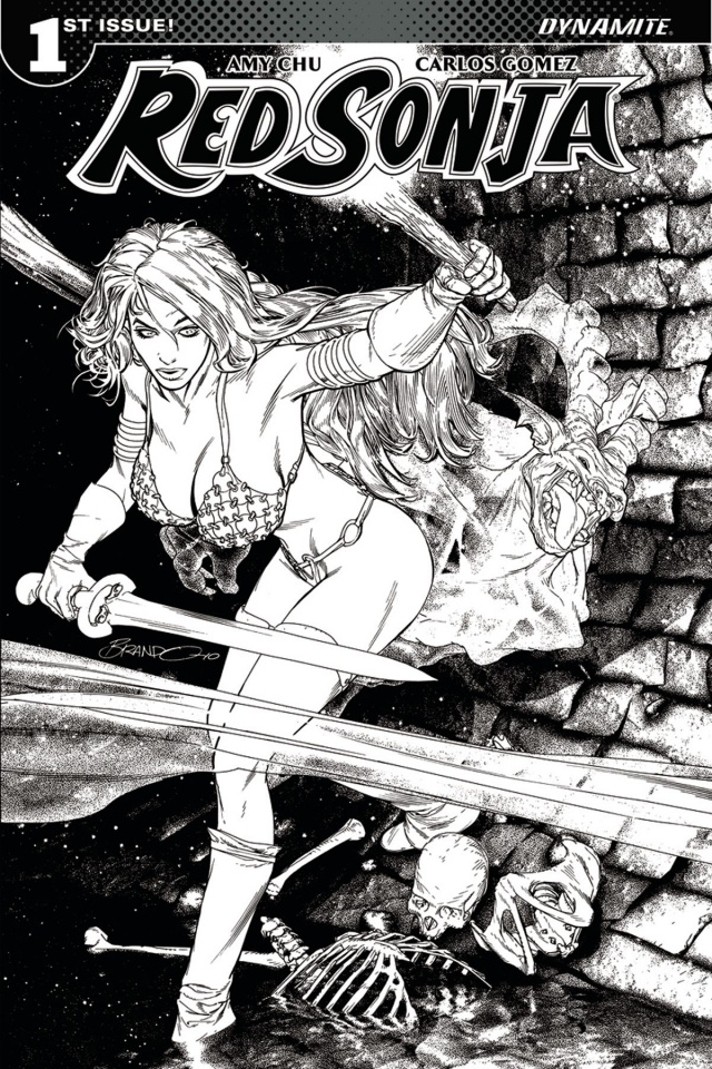 Red Sonja #1 (40 Copy Peterson B&W Cover)