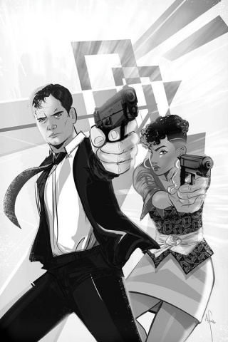 James Bond #6 (20 Copy Richardson B&W Virgin Cover)