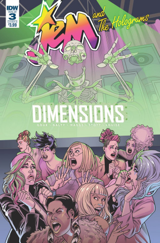 Jem and The Holograms: Dimensions #3 (Goux Cover)