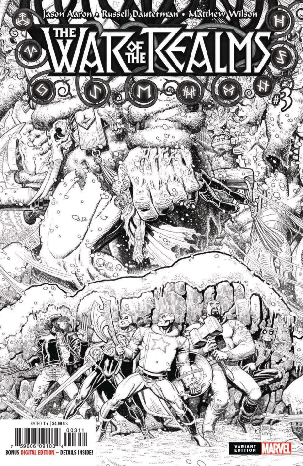 The War of the Realms #3 (Art Adams B&W Cover)