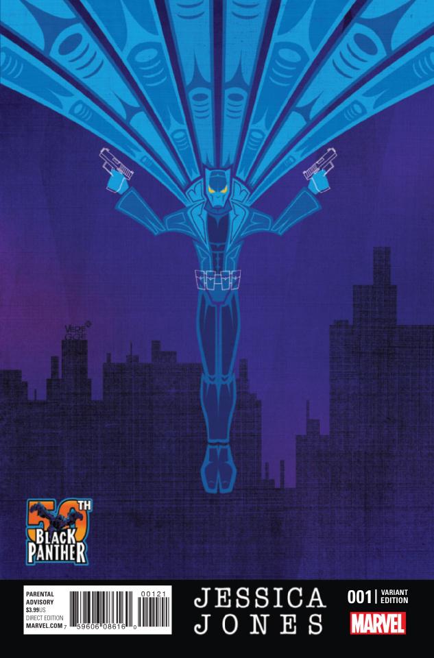 Jessica Jones #1 (Veregge Black Panther 50th Anniversary Cover)
