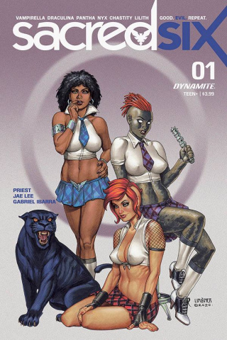 Sacred Six #1 (10 Copy Linsner Cover)