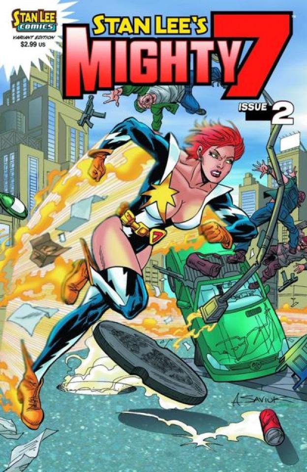 Stan Lee's Mighty 7 #2 (Saviuk Cover)
