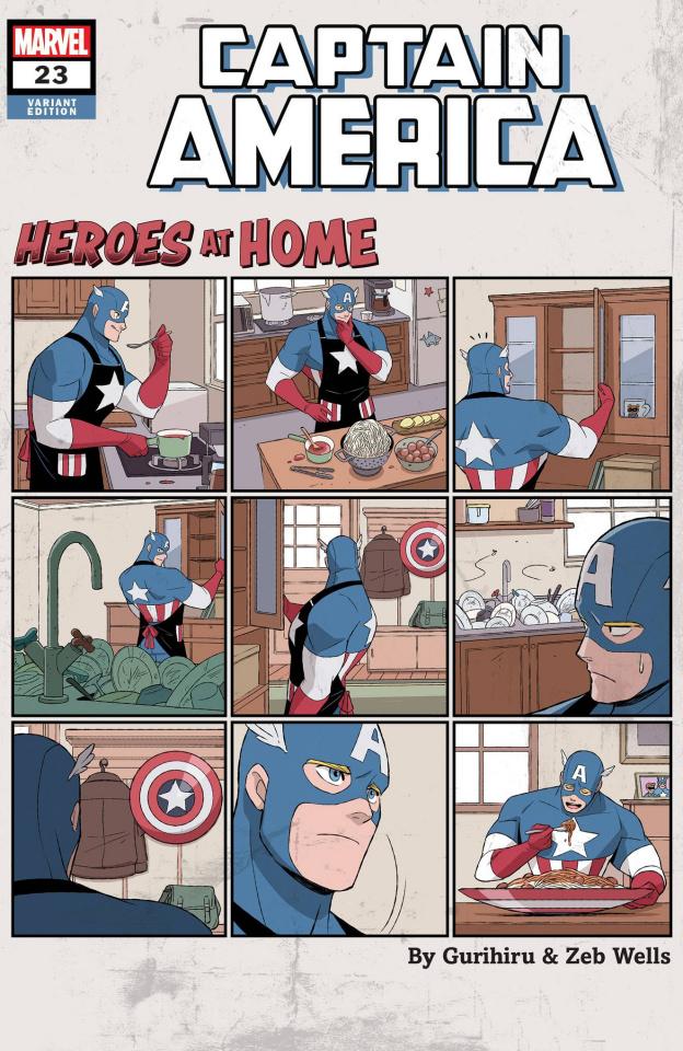 Captain America #23 (Gurihiru Heroes At Home Cover)