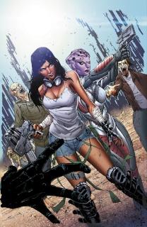 Aliens vs. Zombies #1 (Cafaro Cover)