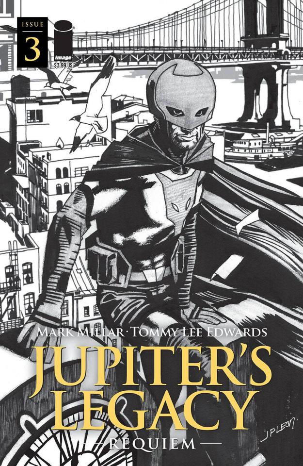 Jupiter's Legacy: Requiem #3 (Leon B&W Cover)