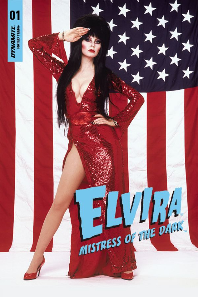 Elvira: Mistress of the Dark #1 (Stars and Stripes Photo Cover)