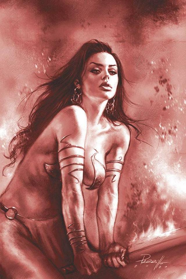 Dejah Thoris #8 (21 Copy Parrillo Tint Virgin Red Cover)