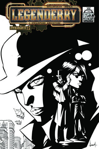Legenderry: A Steampunk Adventure #2 (Fat Jack's B&W Cover)