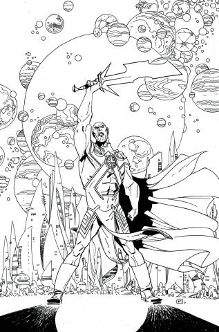 Martian Manhunter #8 (Adult Coloring Book Cover)