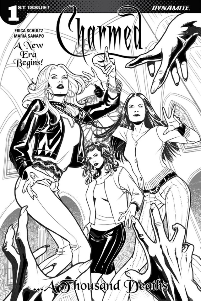 Charmed #1 (Sanapo B&W Cover)
