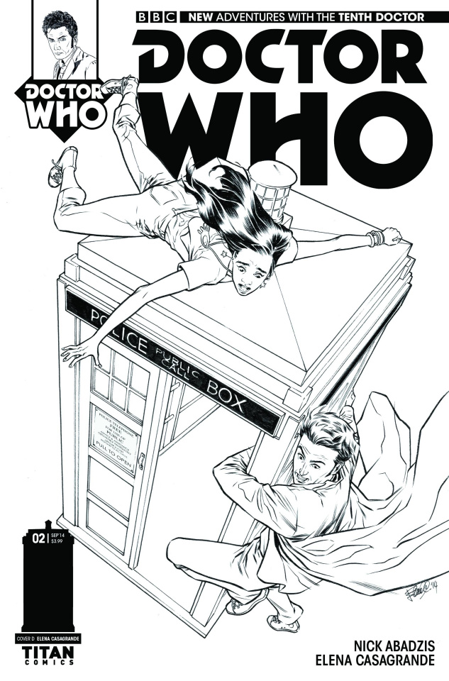 Doctor Who: New Adventures with the Tenth Doctor #2 (25 Copy Casagrande B&W Cover)