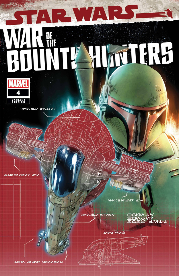 Star Wars: War of the Bounty Hunters #4 (Blueprint Cover)