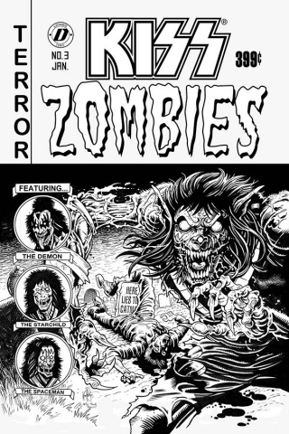 KISS: Zombies #3 (7 Copy Haeser Cover)