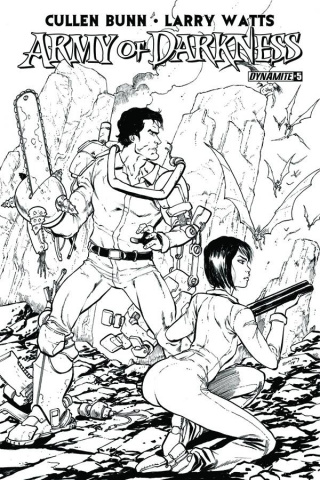 Army of Darkness #5 (15 Copy Seeley B&W Cover)