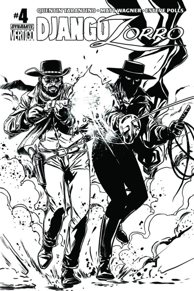 Django / Zorro #4 (15 Copy Laming B&W Cover)