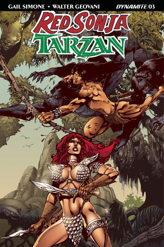 Red Sonja / Tarzan #3 (Castro Subscription Cover)