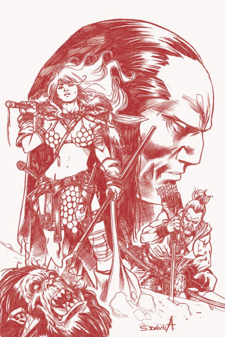 Red Sonja: Birth of the She-Devil #4 (21 Copy Davila B&W Cover)