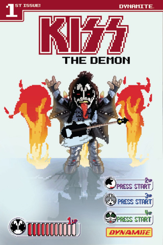 KISS: The Demon #1 (Adams 8-Bit Cover)
