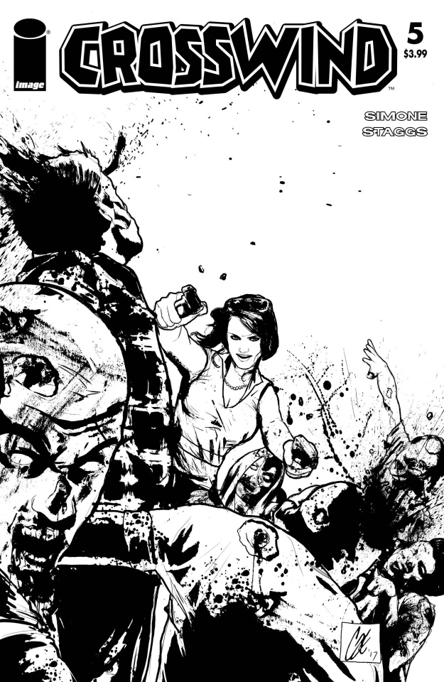 Crosswind #5 (B&W Walking Dead #54 Tribute Cover)