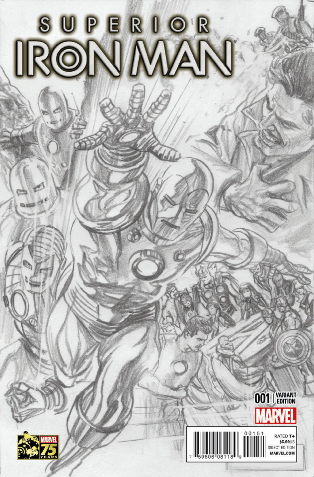 Superior Iron Man #1 (Ross 75th Anniversary Sketch Cover)