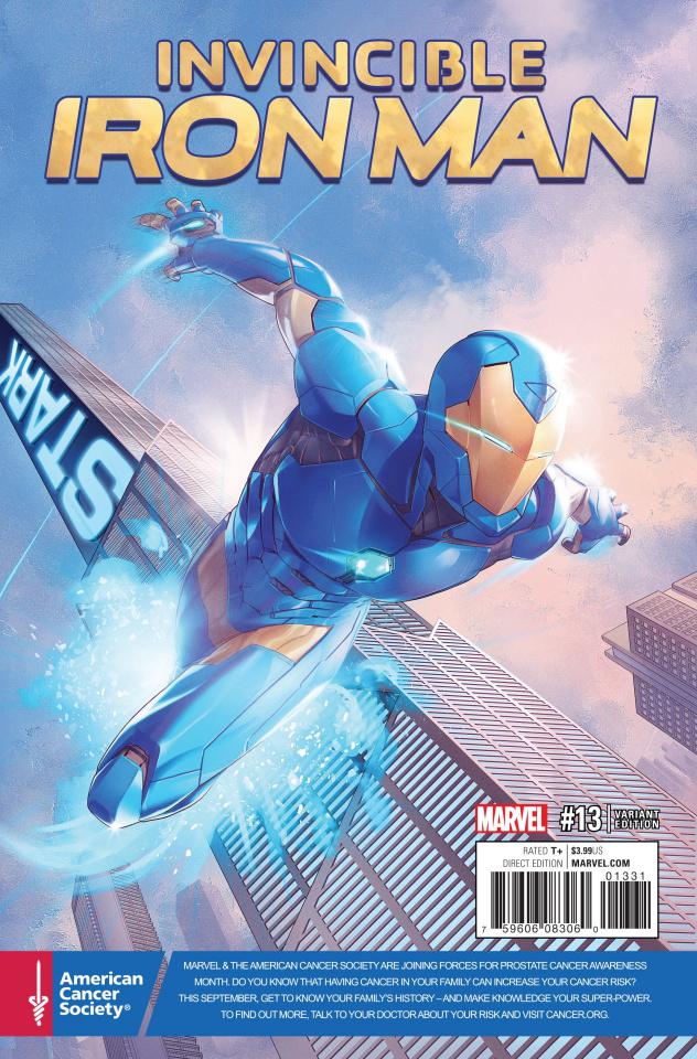Invincible Iron Man #13 (Cancer Awareness Cover)