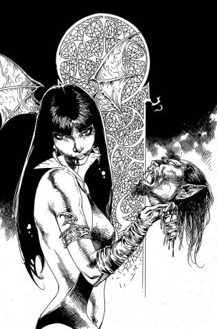 Vengeance of Vampirella #15 (21 Copy Castro B&W Virgin Cover)