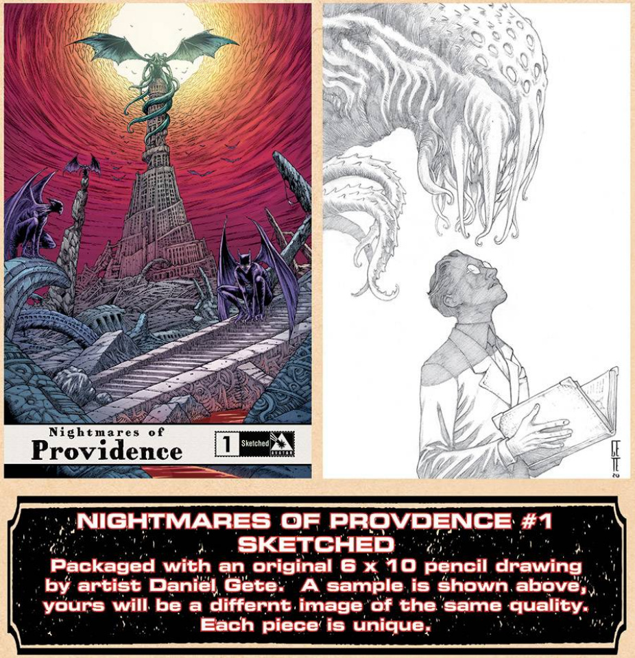 Nightmares of Providence #1 (Original Art Sketched Cover)